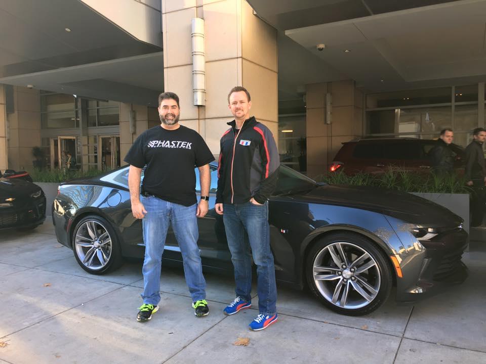 Chris Frezza and Jason Port with the 2016 Camaro